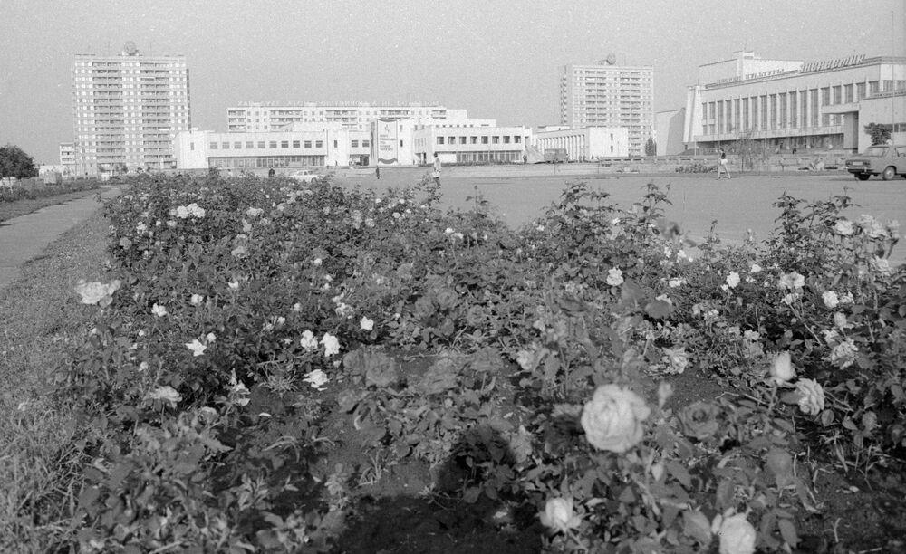 Pripyat kentinin Çernobil faciası öncesi görünümü, 1985 yılı.