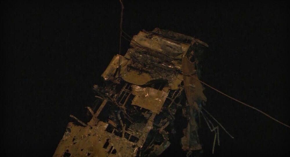 İkinci Dünya Savaşı'nda düşen Sovyet uçağının enkazı Karadeniz'den çıkarıldı