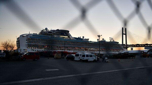 Japonya'da koronavirüs şüphesiyle karantinaya alınan cruise gemisi 'Diamond Princess' - Sputnik Türkiye