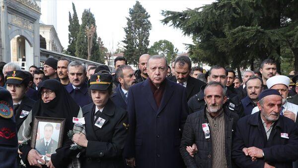 Recep Tayyip Erdoğan, Cihan Erat cenazesi - Sputnik Türkiye