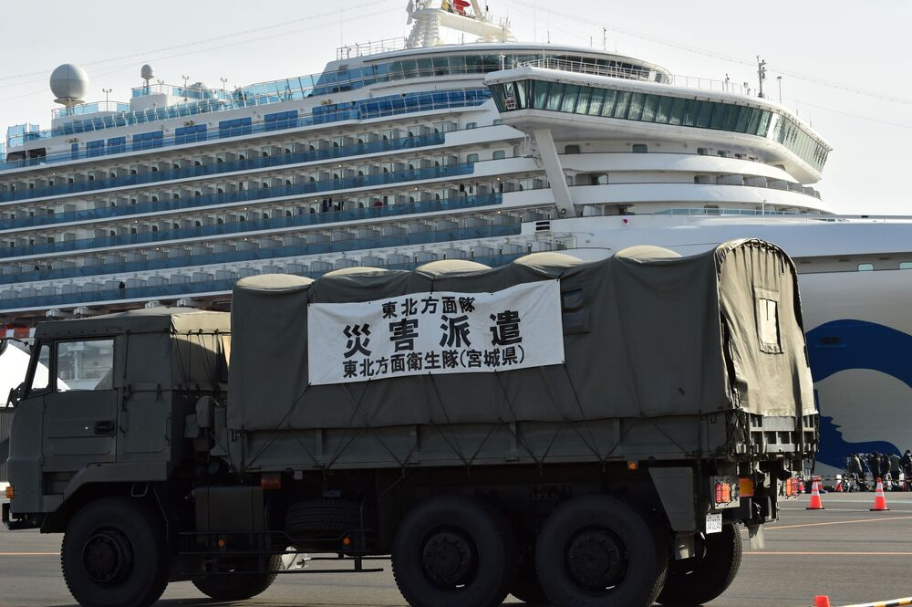 Yolcuların arasında bulunan ve Hong Kong'da gemiden ayrılan 80 yaşındaki bir adamda koronavirüs saptanmasının ardından gemi karantinaya alınmıştı.