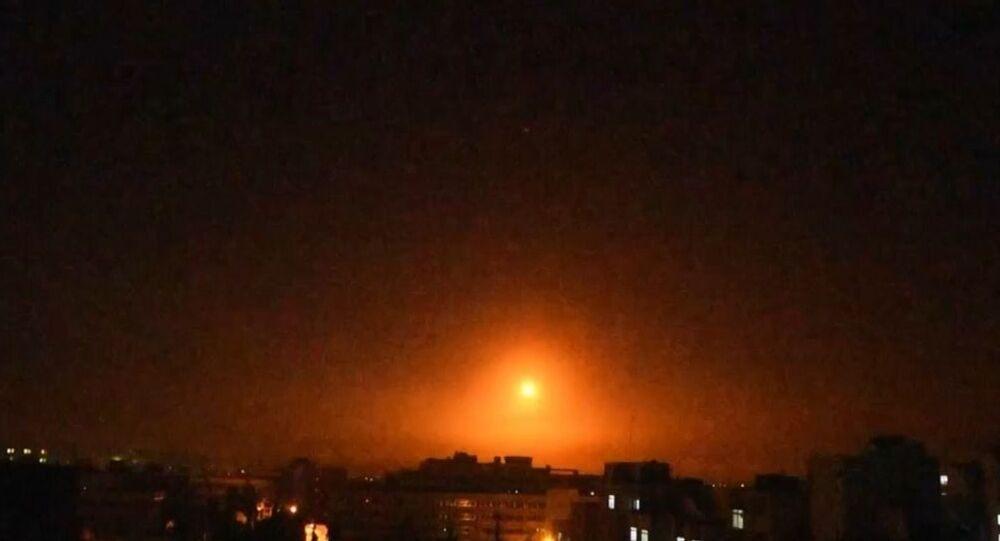 İsrail'in Suriye'ye saldırısı böyle görüntülendi