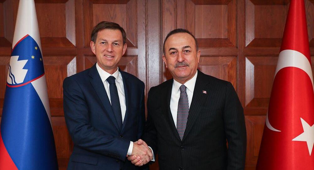 Dışişleri Bakanı Mevlüt Çavuşoğlu, resmi ziyaret amacıyla Ankara'da bulanan Slovenya Dışişleri Bakanı Miro Cerar ile Resmi Konut'ta bir araya geldi.