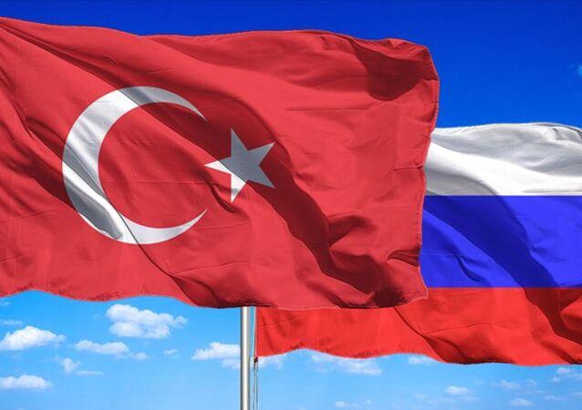Türkiye- Rusya bayrağı