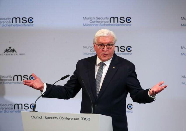 56. Münih Güvenlik Konferansı'nın açılış konuşmasını gerçekleştiren Almanya Cumhurbaşkanı Frank Walter Steinmeier