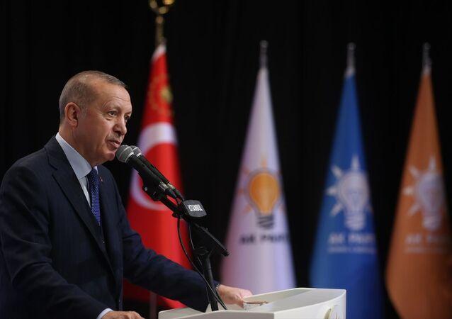 Türkiye Cumhurbaşkanı ve AK Parti Genel Başkanı Recep Tayyip Erdoğan, AK Parti İstanbul İl Başkanlığı Yeni Üye Çalışmaları Ödül Töreni'ne katıldı.