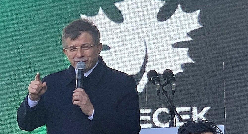 Gelecek Partisi Genel Başkanı Ahmet Davutoğlu, partisinin İstanbul il başkanlığı açılışında konuşma yaptı.