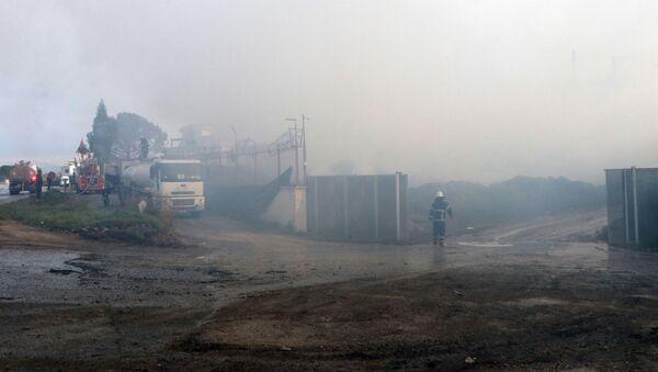 Adana'da pamuk fabrikasının deposundaki yangın - Sputnik Türkiye