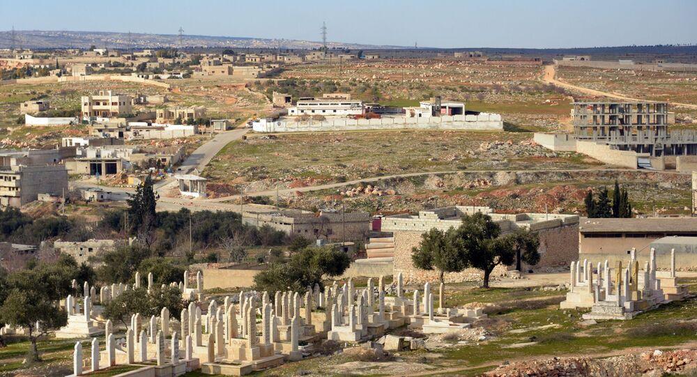 Suriye ordusu tarafından teröristlerden kurtarılan İdlib'deki Maarat el Numan kentinin manzarası.