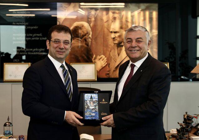 İstanbul Büyükşehir Belediye (İBB) Başkanı Ekrem İmamoğlu - Sarıyer Belediye Başkanı Şükrü Genç