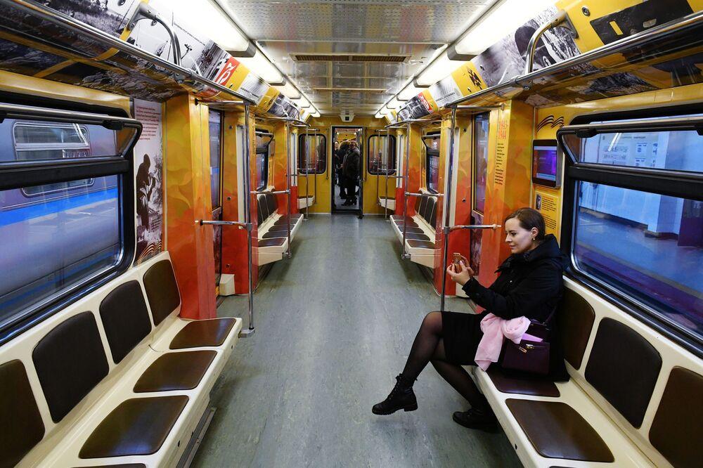 Zafere Giden Yol isimli yeni özel trenin görünümü.