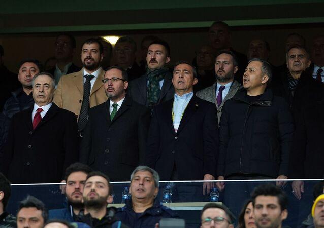 Gençlik ve Spor Bakanı Dr. Mehmet Muharrem Kasapoğlu, derbiyi Fenerbahçe Başkanı Ali Koç ve Galatasaray Başkanı Mustafa Cengiz ile birlikte izledi.
