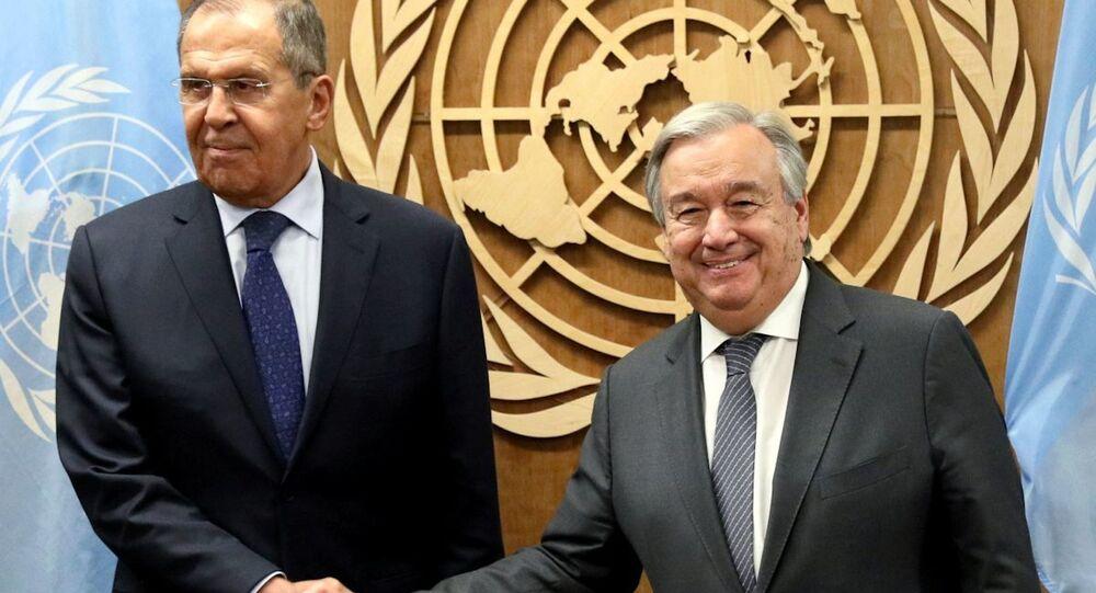 Sergey Lavrov ve BM Genel Sekreteri Guterres
