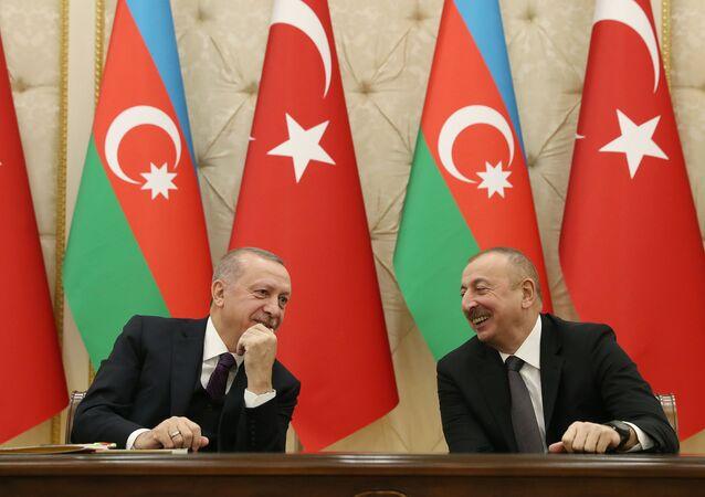 Recep Tayyip Erdoğan - Azerbaycan Cumhurbaşkanı İlhamAliyev