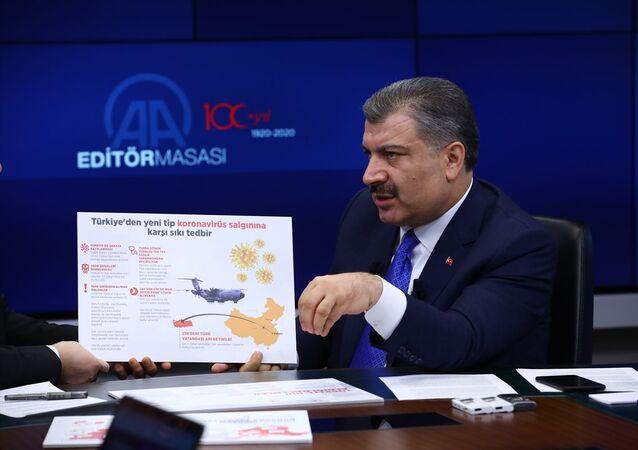 Sağlık Bakanı Fahrettin Koca, Anadolu Ajansı (AA) Editör Masası'na konuk oldu.
