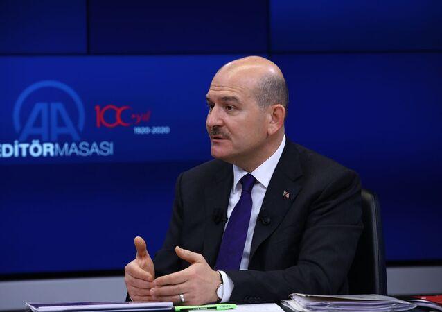 İçişleri Bakanı Süleyman Soylu, Anadolu Ajansı (AA) Editör Masası'na konuk oldu.
