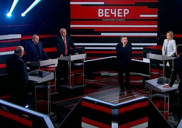 Ünlü Rus sunucu eski Rada vekilini stüdyodan kovdu