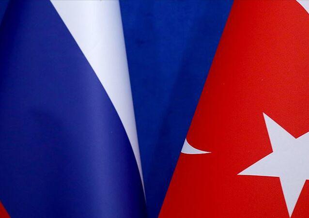 Türkiye Rusya bayrakları