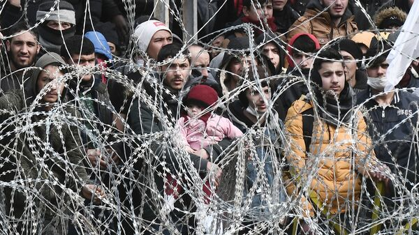 Türkiye-Yunanistan sınırı-mülteciler-göç-sığınmacılar - Sputnik Türkiye