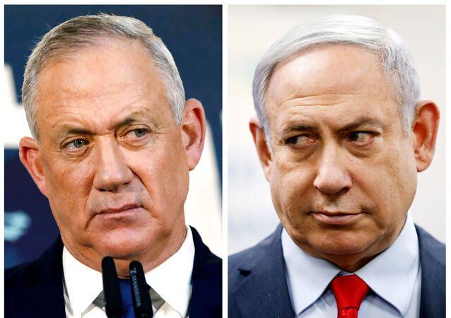 Benny Gantz (solda) ve Benyamin Netanyahu