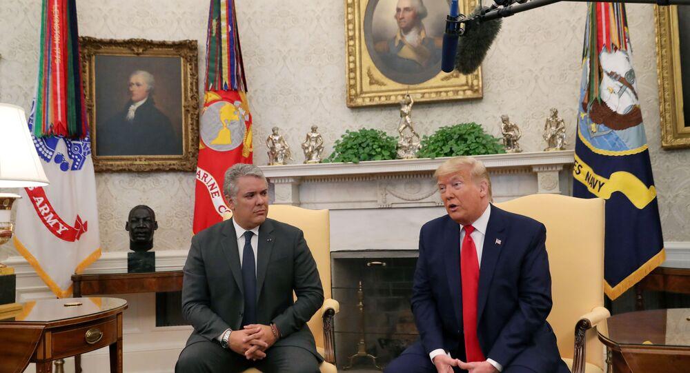 Trump, Kolombiya Devlet Başkanı Ivan Duque