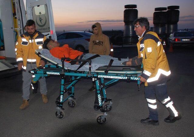 Yunan askerinin açtığı ateşle yaralanan göçmenler Keşan'a getirildi