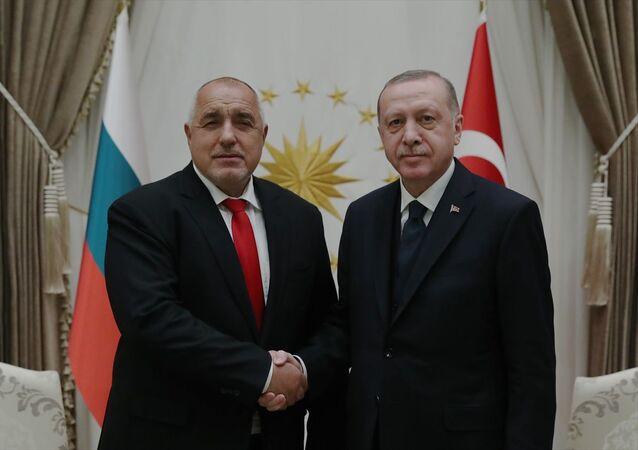 Türkiye Cumhurbaşkanı Recep Tayyip Erdoğan, Cumhurbaşkanlığı Külliyesi'nde Bulgaristan Başbakanı Boyko Borisov ile bir araya geldi.