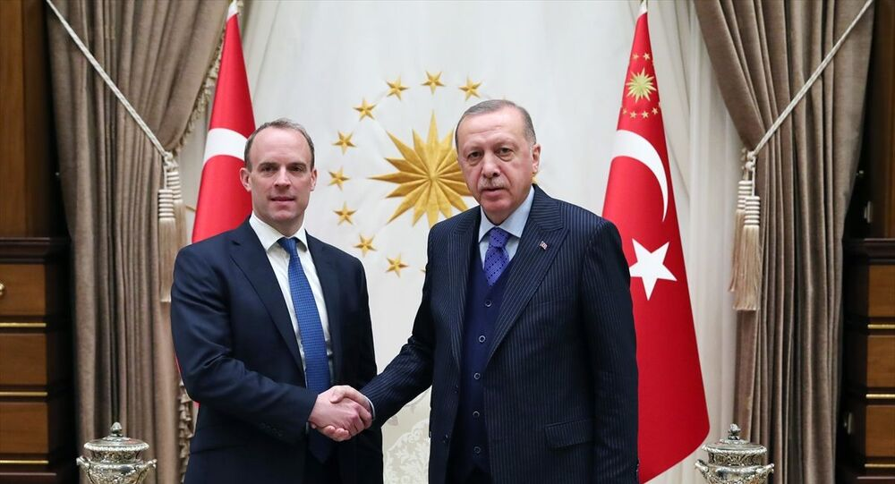 CumhurbaşkanıRecep Tayyip Erdoğan, İngiltere Dışişleri BakanıDominic Raab ile görüştü