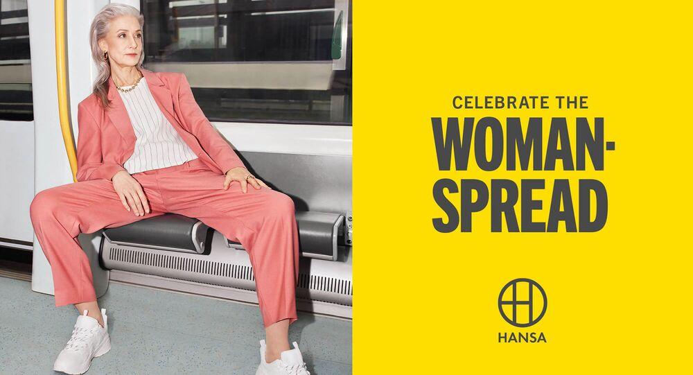İsveç'in Malmö kentinde Hansa'nın 'Kadınların yayılmasını kutlamak' kampanyasından bir görüntü