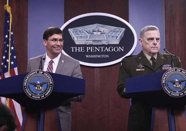 ABD Savunma Bakanı Mark Esper ve ABD Genelkurmay Başkanı Orgeneral Mark Milley