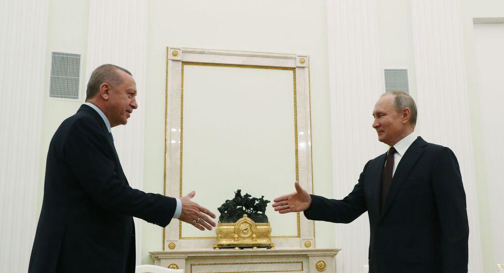 Türkiye Cumhurbaşkanı Recep Tayyip Erdoğan ve Rusya Devlet Başkanı Vladimir Putin, Moskova'da bir araya geldi.