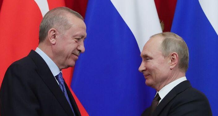 Türkiye Cumhurbaşkanı Recep Tayyip Erdoğan ile Rusya Devlet Başkanı Vladimir Putin