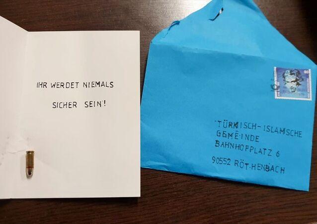Almanya'da camiye mermili tehdit mesajı gönderildi