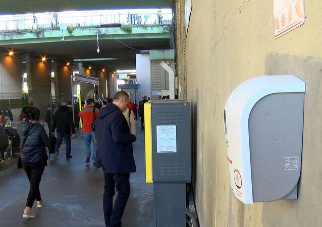 Metrobüs dezenfektan cihazı