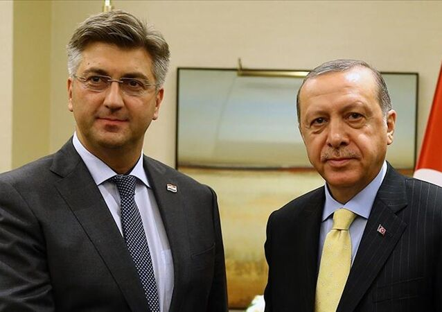 Andrej Plenkovic-Recep Tayyip Erdoğan