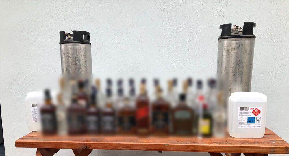 Tekirdağ'da 595 litre kaçak içki ele geçirildi