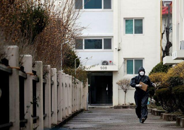 Güney Kore'de Kovid-19 nedeniyle ilk kez bir apartmanda yaşayanlar karantinaya alındı