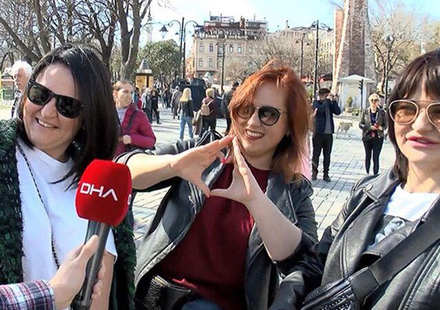 İstanbul'daki turistler
