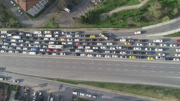 Küçükçekmece'de trafik - Sputnik Türkiye