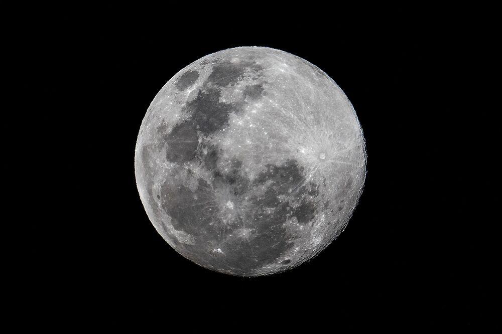 Panama'da görüntülenen Süper Ay manzarası.