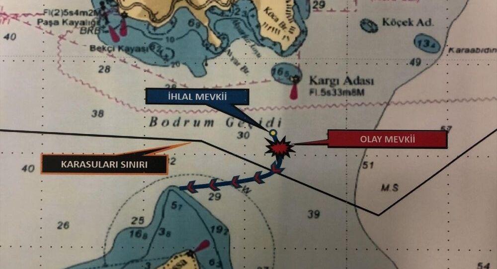 Yunan sahil güvenlik botu Türk kara sularından çıkarıldı