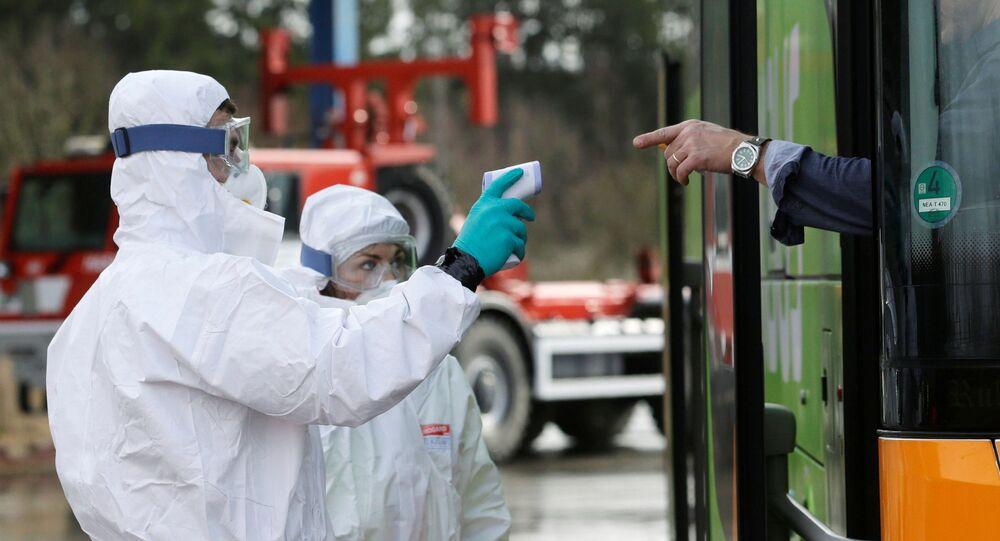 Çekya sınırında koronavirüs kontrolü