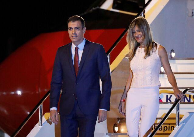 İspanya Başbakanı Pedro Sanchez ve eşi Maria Begona Gomez Fernandez