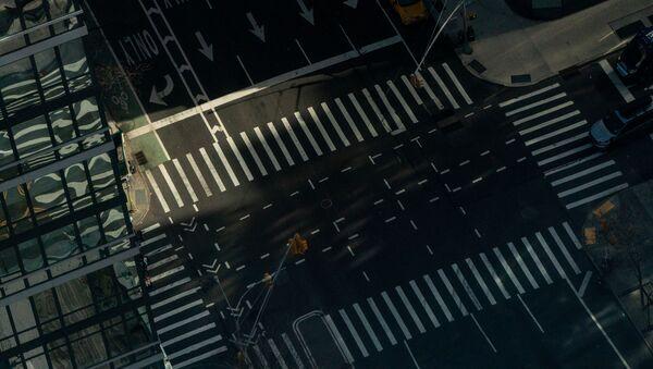 ABD'de koronavirüs salgını sebebiyle sokaklar boşaldı - New York - Manhattan - Sputnik Türkiye