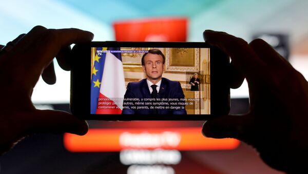 Macron'dan koronavirüs açıklaması - Sputnik Türkiye