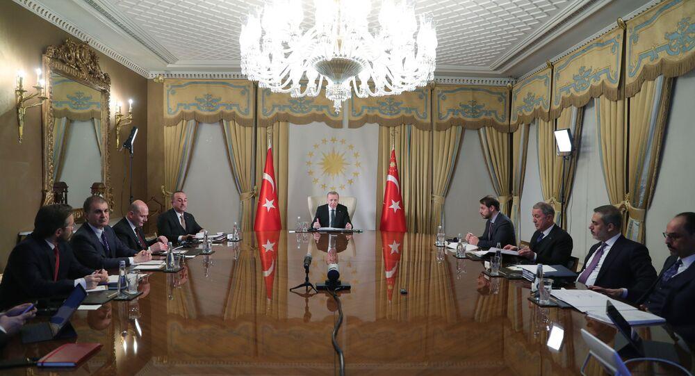 Cumhurbaşkanı Erdoğan, Macron, Merkel ve Johnson'ın katılımıyla video konferans görüşmesi gerçekleştirdi
