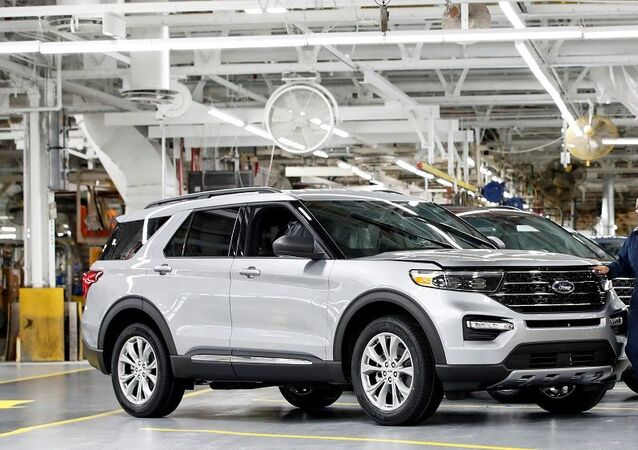 A worker checks a 2020 Ford Explorer car at Ford's Chicago Assembly Plant in Chicago, Illinois, U.S. June 24, 2019.