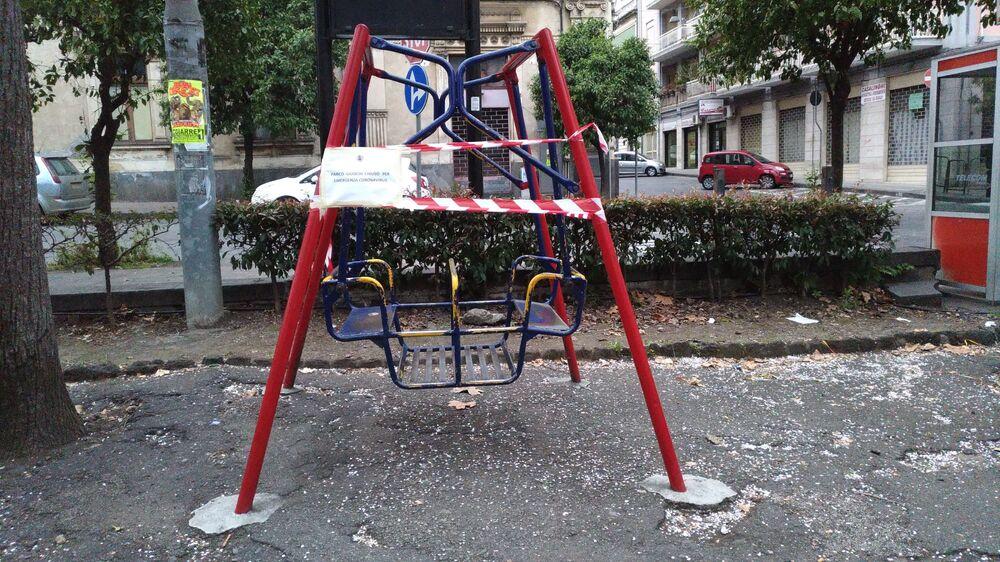 Sicilya'daki bir çocuk oyun alanı