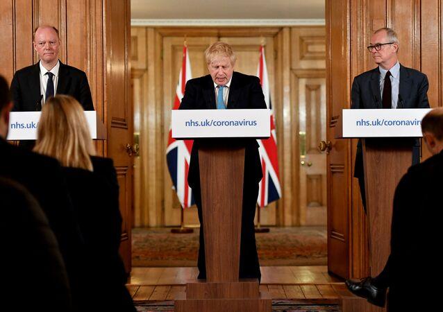 İngiltere Başbakanı Boris Johnson - koronavirüs basın açıklaması