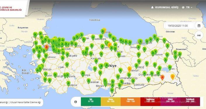 Türkiye genelinde birçok şehirde dün hava kalitesi iyi kalite olarak ölçüldü. Özellikle mega kent İstanbul'da hava kalitesinin Sultangazi dışında tamamen düzeldiği görüldü.